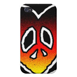 Paz y amor iPhone 4/4S funda