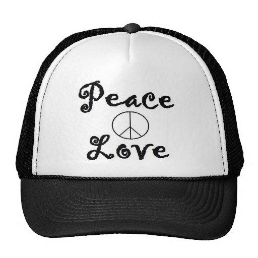 Paz y amor gorro