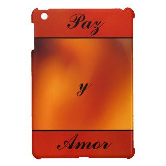 Paz y Amor - Naranja iPad Mini Funda