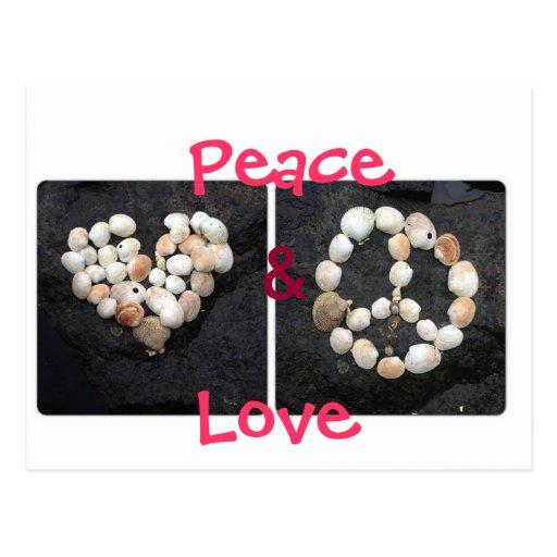 Paz y amor postal