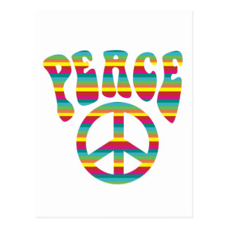 ¡Paz y amor! Postal