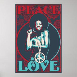 Paz y amor póster