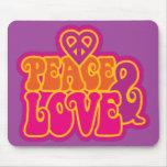 Paz y amor tapete de ratones