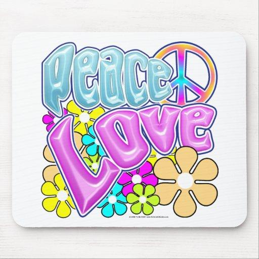 Paz y amor tapetes de raton