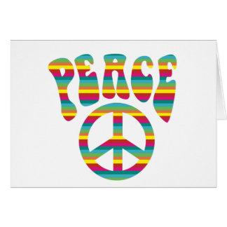 ¡Paz y amor! Tarjeta De Felicitación