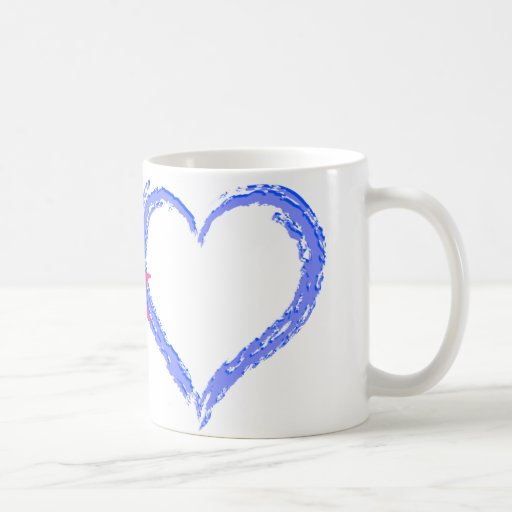 Paz y amor taza de café