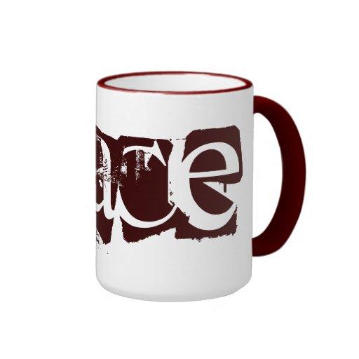 Paz y amor tazas de café