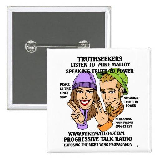 PAZ Y AMOR TRUTHSEEKERS PIN