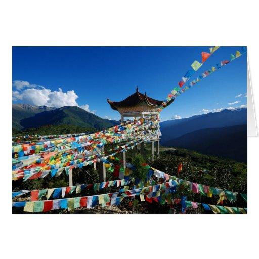 Paz y armonía tarjeta de felicitación