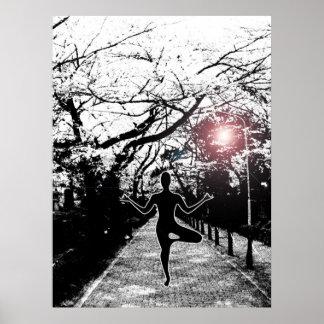 Paz y balanza - ilustraciones de la yoga póster