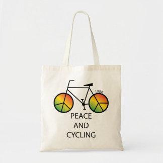 Paz y bolso de ciclo del mensaje bolsa tela barata