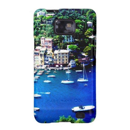 paz y calma de la montaña de los barcos de Italia Samsung Galaxy SII Funda