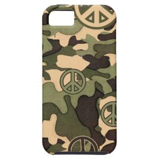 Paz y camuflaje iPhone 5 fundas