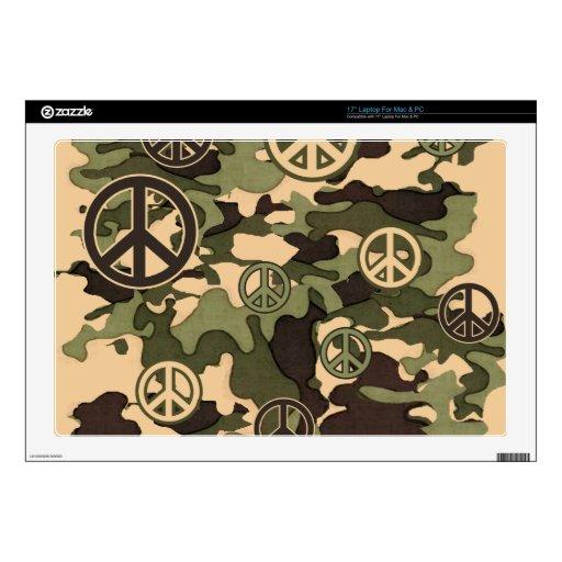 Paz y camuflaje portátil 43,2cm skins