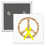 Paz y cinta de Camo del desierto Pin