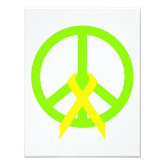 """Paz y cinta de la verde lima invitación 4.25"""" x 5.5"""""""