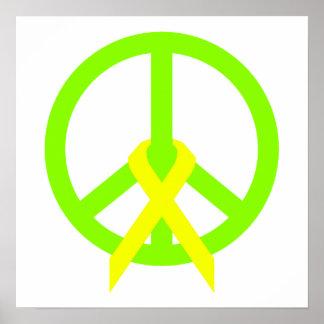 Paz y cinta de la verde lima poster