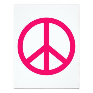"""Paz y cinta de las rosas fuertes invitación 4.25"""" x 5.5"""""""