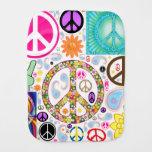 Paz y collage de Paisley Paños Para Bebé