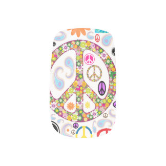 Paz y collage de Paisley Pegatina Para Uñas