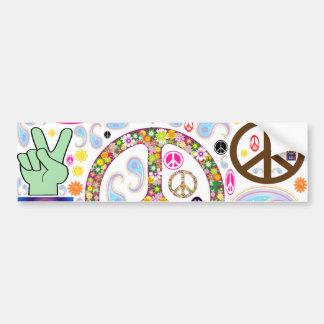 Paz y collage de Paisley Pegatina Para Auto