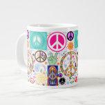 Paz y collage de Paisley Taza Grande