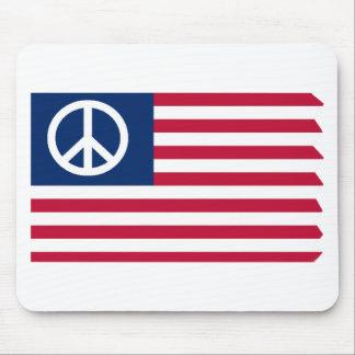 Paz y el cojín de ratón de la bandera tapetes de ratones