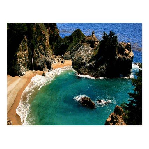 Paz y ensenada California de McWay del agua Postales