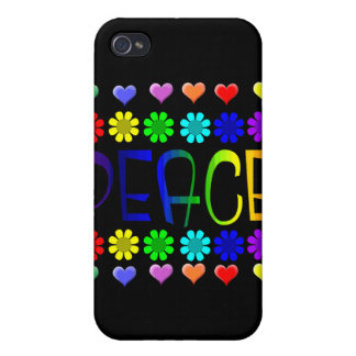 Paz y flores iPhone 4 cárcasa