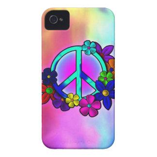 Paz y flores iPhone 4 Case-Mate cobertura