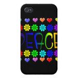 Paz y flores iPhone 4 fundas