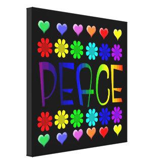 Paz y flores impresiones en lienzo estiradas