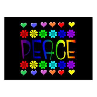 Paz y flores tarjetas de visita grandes