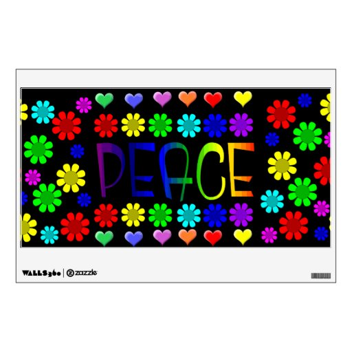 Paz y flores vinilo