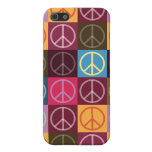 Paz y flower power iPhone 5 protectores