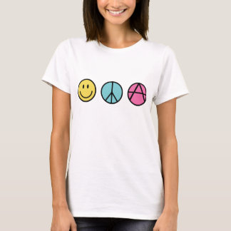 Paz y FreedomT-Camisa de la felicidad Playera