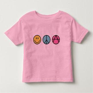 Paz y FreedomT-Camisa de la felicidad Playera De Bebé
