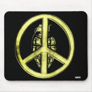 Paz y guerra (amarillo) tapete de ratones