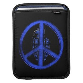 Paz y guerra (azules) fundas para iPads