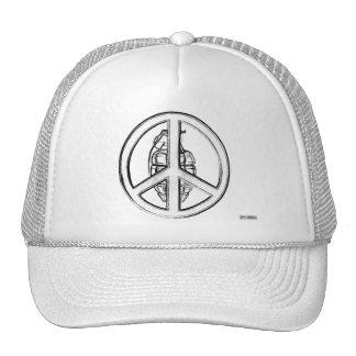 Paz y guerra (blancas) gorras de camionero