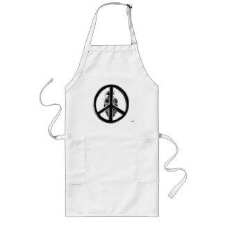 Paz y guerra (negro) delantal largo
