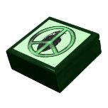 Paz y guerra (verde/gris del metal de arma) cajas de recuerdo