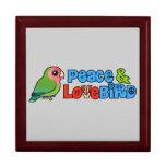 Paz y Lovebird Cajas De Regalo