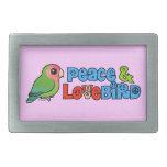 Paz y Lovebird Hebilla Cinturón