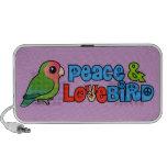 Paz y Lovebird Laptop Altavoces