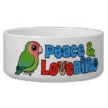 Paz y Lovebird Tazón Para Perro