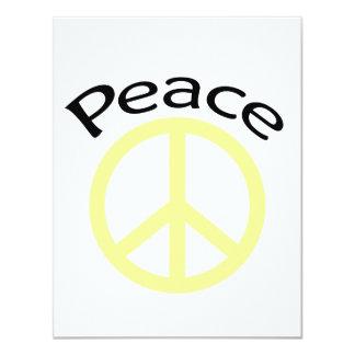 """Paz y palabra amarillas invitación 4.25"""" x 5.5"""""""
