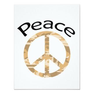 """Paz y palabra de Camo del desierto Invitación 4.25"""" X 5.5"""""""