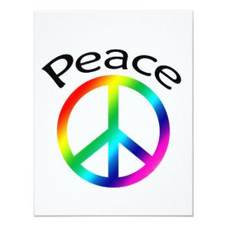 """Paz y palabra del arco iris invitación 4.25"""" x 5.5"""""""