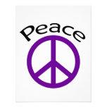 Paz y palabra púrpuras invitacion personal